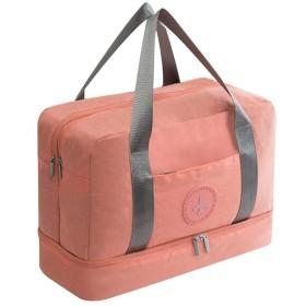Weanty フィットネスバッグ 手提げ 収納ポーチ 大容量ウォッシュバッグ 超軽量 便利旅行 防水 ピンク