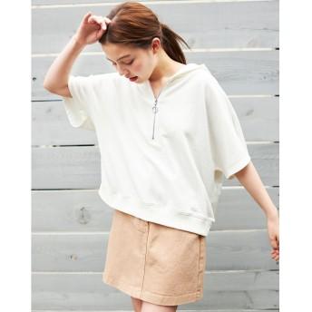 INGNI(イング)/フラップポケット前ボタン台形スカート