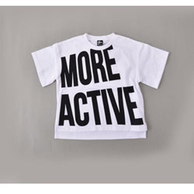 【BEBE ONLINE STORE:トップス】【カタログ掲載】【ニコプチ掲載】天竺ビッグロゴプリントTシャツ