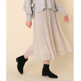 Couture Brooch / クチュールブローチ 【WEB限定販売】ミモレ丈星柄プリーツスカート