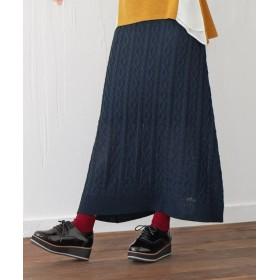ニットロングスカート (大きいサイズレディース)スカート,plus size, Skirts, 裙子
