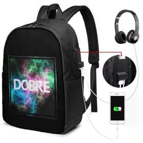 Dobre バックパック リュック 17inch 超大容量 USB充電ポート イヤホンポート 耐久 ファッション 機能的 通勤 通学 ユニセックス 旅行 学生 スポーツ 鞄 ショルダーバッグ 手提げ