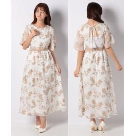 (Vicente/ヴィセンテ)Embroideryバックオープンドレス/レディース ベージュ