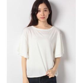 【20%OFF】 神戸レタス 落ち感Tシャツ(フレア袖) レディース オフホワイト ワンサイズ(M) 【KOBE LETTUCE】 【タイムセール開催中】