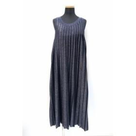 【中古】ドゥロワー Drawer 2018SS プリーツ ノースリーブ ドレス ワンピース