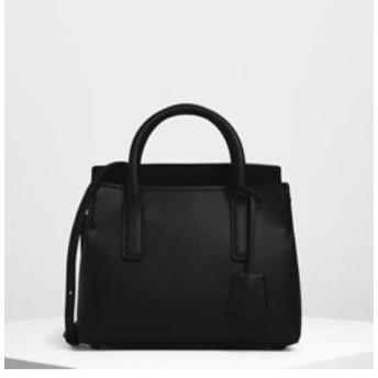 【CHARLES & KEITH:バッグ】【2019 FALL 新作】タックインフラップ ストラクチャードバック / Tuck-In Flap Structured Bag