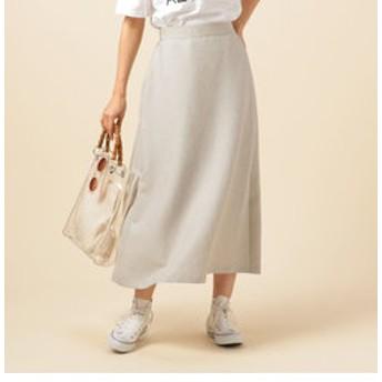 【Doux archives:スカート】麻調ブッチャーAラインロングスカート