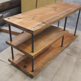 ‼️送料無料‼️テレビ台などに鉄筋ローテーブル