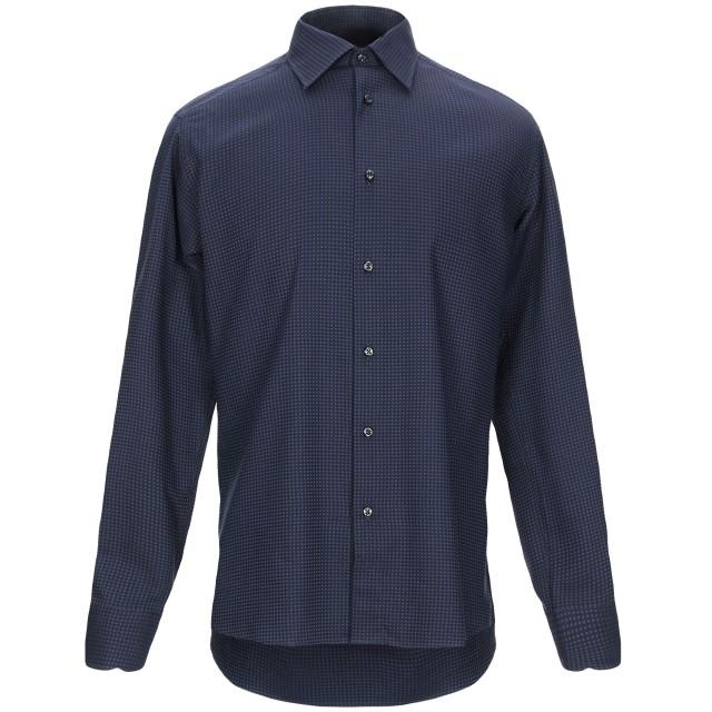 《セール開催中》A.DI CAPUA メンズ シャツ ブルー 39 コットン 100%