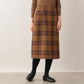 SALE【マッキントッシュ フィロソフィー ウィメン(MACKINTOSH PHILOSOPHY WOMEN)】 ハリスツイードタイトスカート キャメル