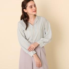 [マルイ] タック衿パール釦ブラウス/クチュールブローチ(Couture Brooch)