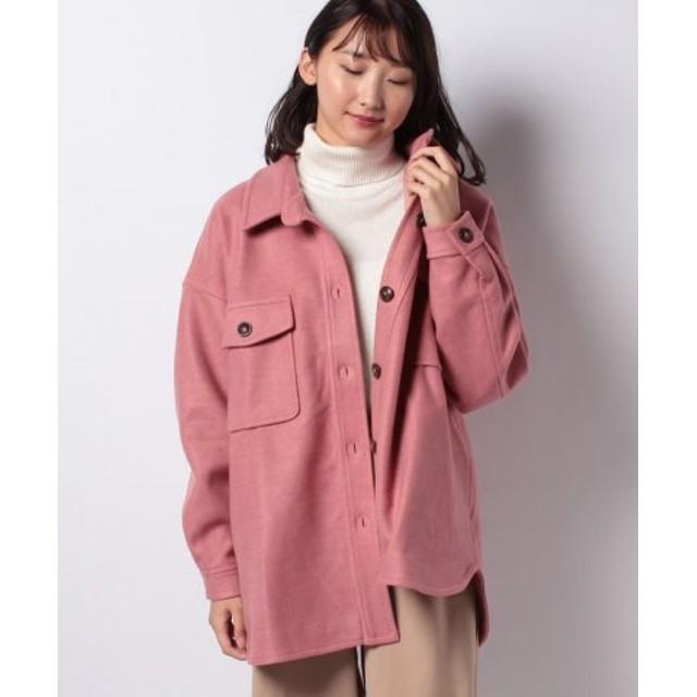 (ECLIN/エクラン)オーバーサイズCPOジャケット/レディース ピンク