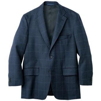 【メンズ】 グレンチェックジャケット - セシール ■カラー:ネイビー ■サイズ:LL