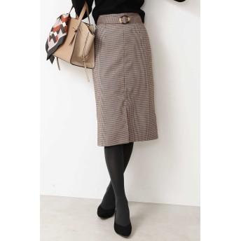 N. Natural Beauty Basic(エヌ ナチュラルビューティーベーシック)/ベッコウバックルチェックタイトスカート