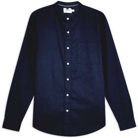 《期間限定セール開催中!》TOPMAN メンズ シャツ ダークブルー S コットン 98% / ポリウレタン 2% NAVY OXFORD SHIRT