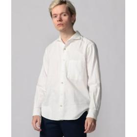 (TOMORROWLAND/トゥモローランド)コットンビエラ ホリゾンタルカラーシャツ/メンズ 11ホワイト