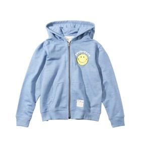 【スマイリーフェイス】 サガラワッペン付ジップアップパーカー(男の子。女の子 子供服。ジュニア服) カーディガン、Kids' Cardigan, 襟衫, 開襟衫