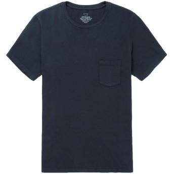 《セール開催中》S.K.U. SAVE KHAKI UNITED メンズ T シャツ ダークブルー XS スーピマ 100%