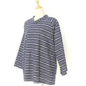 彦太謹製 亀田縞 ラグラン袖 プルオーバー PO60487
