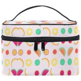 パイナップルレモン化粧品袋オーガナイザージッパー化粧バッグポーチトイレタリーケースガールレディース