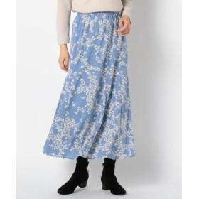 (FREDY & GLOSTER/フレディアンドグロスター)花柄パネル切り替えスカート/レディース ブルー系4