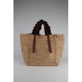 <LUDLOW/ラドロー>【予約販売】【4月上旬以降届】Grape handle tote(Raffia) Brown【三越・伊勢丹/公式】