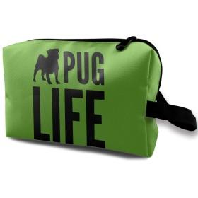 ライフ 犬 化粧品袋 トラベルコスメティックバッグ 防水 大容量 荷物タグ付き 旅行収納ポーチ アレンジケース パッキングオーガナイザー 出張 旅行 衣類収納袋 スーツケース整理 インナーバッグ メッシュポーチ 収納ポーチ