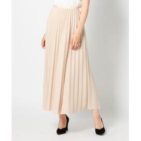 (MEW'S REFINED CLOTHES/ミューズ リファインド クローズ)ウィンタープリーツミモレスカート/レディース ベージュ