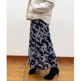 (FREDY & GLOSTER/フレディアンドグロスター)花柄パネル切り替えスカート/レディース ネイビー系4