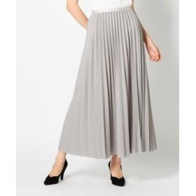 (MEW'S REFINED CLOTHES/ミューズ リファインド クローズ)ウィンタープリーツミモレスカート/レディース グレー