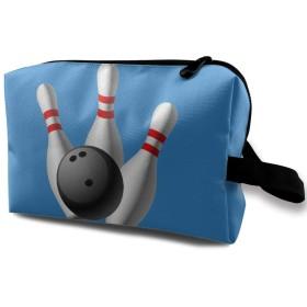 ボーリング ロゴ 化粧品袋 トラベルコスメティックバッグ 防水 大容量 荷物タグ付き 旅行収納ポーチ アレンジケース パッキングオーガナイザー 出張 旅行 衣類収納袋 スーツケース整理 インナーバッグ メッシュポーチ 収納ポーチ