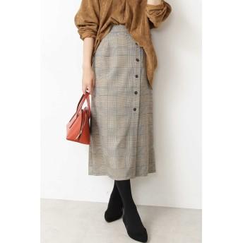 N. Natural Beauty Basic(エヌ ナチュラルビューティーベーシック)/チェックサイドボタンタイトスカート
