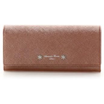 【Samantha Thavasa Deluxe:財布/小物】ビジュー付かぶせ長財布