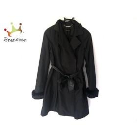 クイーンズコート QUEENS COURT コート サイズ2 M レディース 美品 黒 袖ファー/冬物 新着 20190919