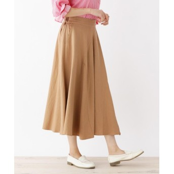 WELL BEING(ウェルビーイング) 綿麻レーヨンスリットスカート