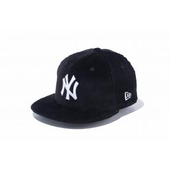 NEW ERA ニューエラ キッズ 9FIFTY コーデュロイ ニューヨーク・ヤンキース ブラック × スノーホワイト スナップバックキャップ アジャスタブル サイズ調整可能 ベースボールキャップ キャップ 帽子 男の子 女の子 52 - 55.8cm 12108311 NEWERA