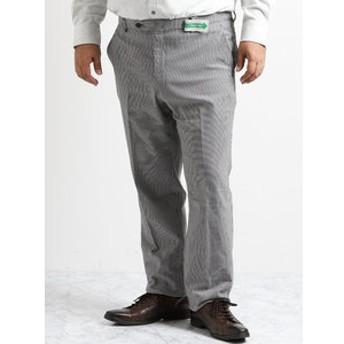 【GRAND-BACK:スーツ・ネクタイ】【大きいサイズ】スーパーストレッチウォッシャブル 裏起毛千鳥パンツ