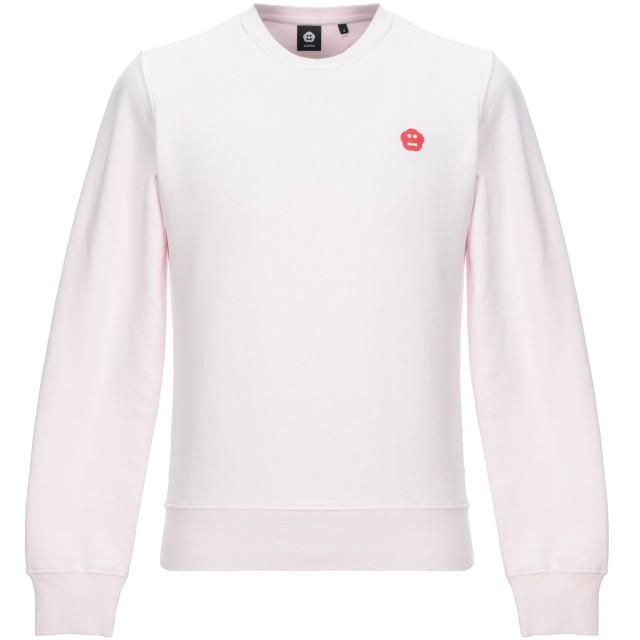 《セール開催中》ASPESI メンズ スウェットシャツ ライトピンク M コットン 100%