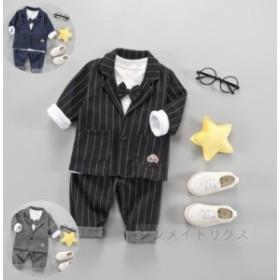 キッズ ベビー 上下2点セット スーツ 正装 紳士服 フォーマル 服 おしゃれ トップス ベビートップス 可愛い 誕生日 保育園 幼稚園 普段着