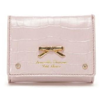 【Samantha Thavasa Petit Choice:財布/小物】クロコシンプルリボン ミニ財布