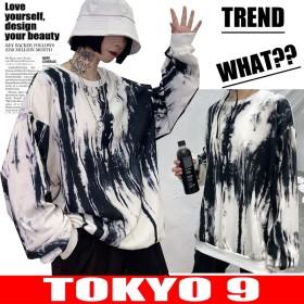 Tシャツ ジャンバー ダンス スウェット 韓国 アメカジ ダンス 衣装 ストリート系ファッション 卸 ビッグ 原宿系 レディース HIPHOP TOKYO9