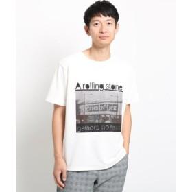 (THE SHOP TK/ザ ショップ ティーケー)【吸水速乾/セオアルファ糸使用】さらさらフォトプリントTシャツ/メンズ オフホワイト(003)