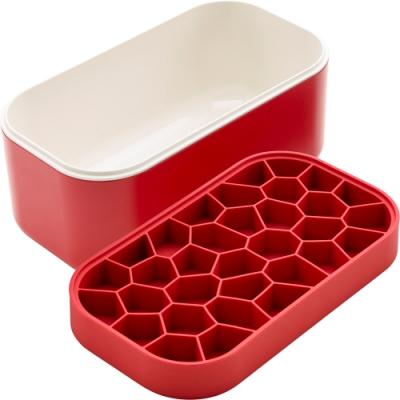 《LEKUE》附蓋蜂巢製冰盒(紅330ml)