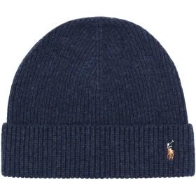 《セール開催中》POLO RALPH LAUREN メンズ 帽子 ダークブルー one size ウール 100% Wool Signature Pony Hat