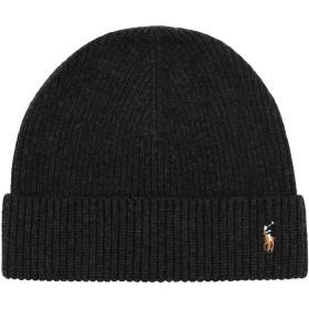 《セール開催中》POLO RALPH LAUREN メンズ 帽子 ブラック one size ウール 100% Wool Signature Pony Hat