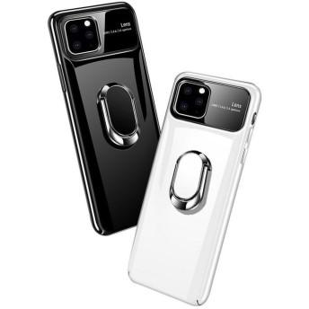 【強化ガラス付き】Apple iPhone11 / 11 Pro / 11 Pro Max ケース/カバー プラスチックケース/カバー リング付き アイフォン11 ハードケース 耐衝撃 落下防止 おす