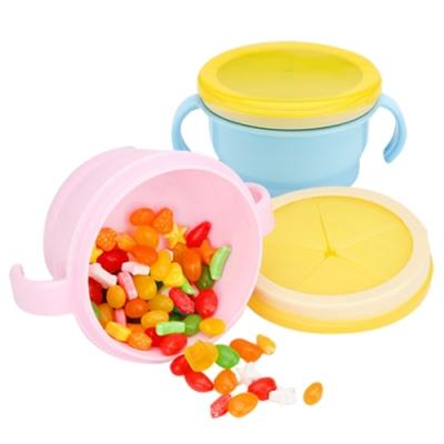colorland 嬰兒餅乾防灑碗 寶寶擋片雙柄零食碗餐具組
