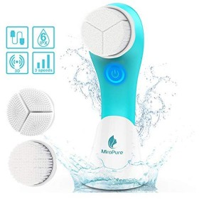MiroPure Sonic Rechargeable Facial Brush, 3D Brush Heads Design,Vibration Waterproof Facial Cleansing Brush,3 Brush Heads and 3 Settings,Deep Cleansing,Gently Exfoliate and Remove Blackhead 141[並行輸入]