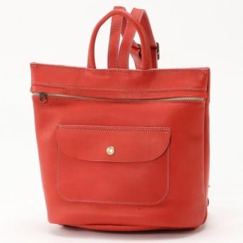バッグ カバン 鞄 レディース リュック Story レザーリュック[日本製] カラー 「レッド」