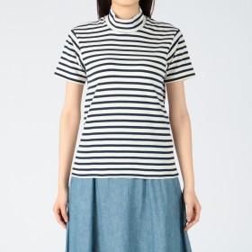 ANATOMICA(アナトミカ)/モックネックTシャツホリゾンタルストライプ